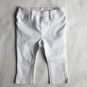 Gap skinny white jeans 6 12 M stretch girl stretch